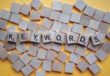 Bokstäver som bildar ordet keywords
