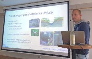 David Eveborn SGU, föreläser om grundvatten