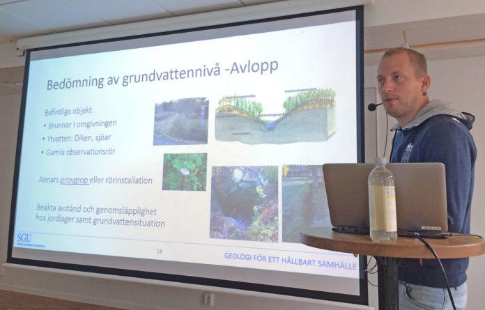 David Eveborn SGU föreläser om grundvatten