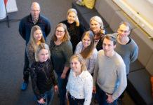 Delar av projektgruppen som ansvarat för Munga-projektet