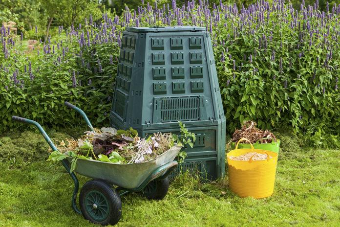 kompost i trädgård